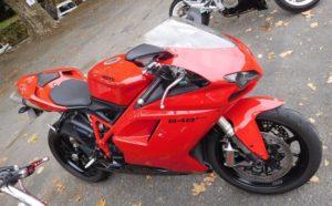 Unter anderem wurde auch diese Ducati gestohlen